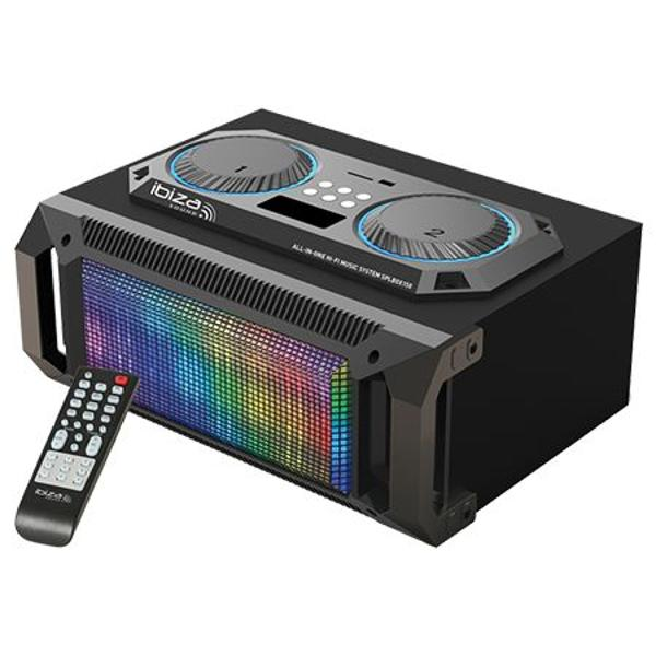 SOUND BOX PORTABIL 2.1 100W RMS USB/SD/BT/FM/AUX ILUMINAT LED