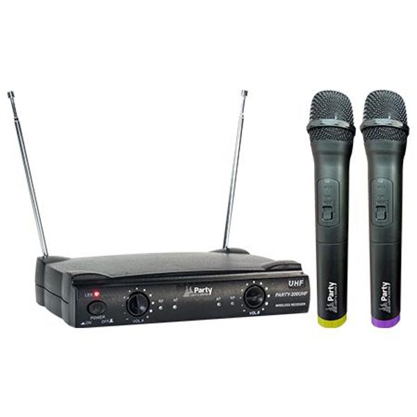 SET 2 MICROFOANE WIRELESS UHF 863.2 & 864.2 MHZ