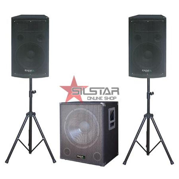 Kit Subwoofer 15 Inch + 2 Sateliti 12 Inch + 2 Stand Boxa-CUBE 1