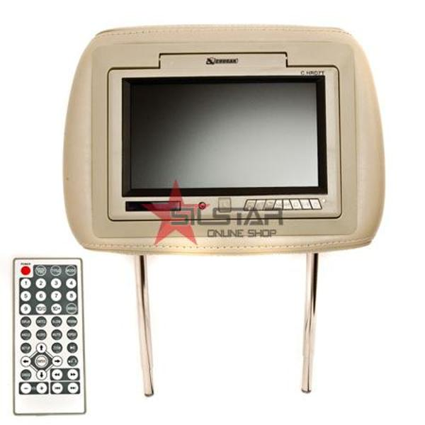 (C.HRD7T) Monitor TFT 7 Inch +Dvd In Tetiera Crem