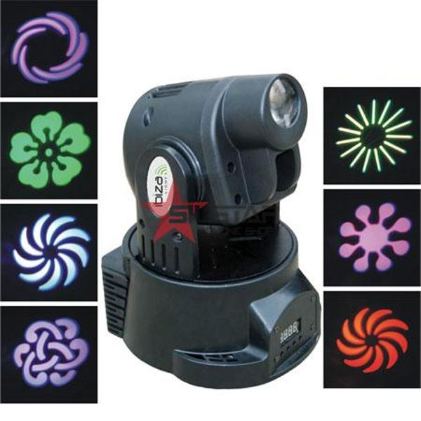 MOVING HEAD LED 9 GOBOS LIGHT DMX-LMH301LED