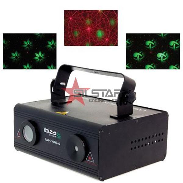 LASER 150MW RED + 60MW GREEN DMX GRAPHIC-LAS210RGG