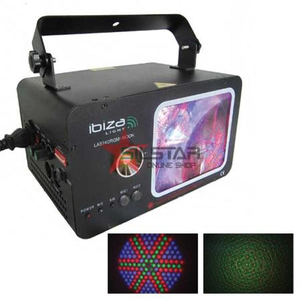 LASER COLOR MOON DMX ROSU/VERDE 162 LED 140MW-LAS140RGM-MOO