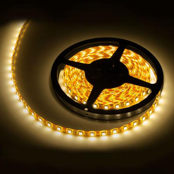 BANDA LED WATERPROOF 300X5050SMD ALB CALD 5M