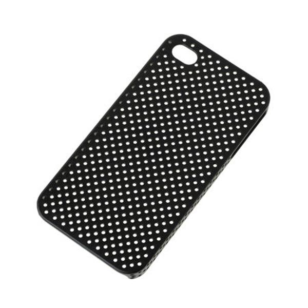 BACK COVER CASE IPHONE 4 NEGRU SITA