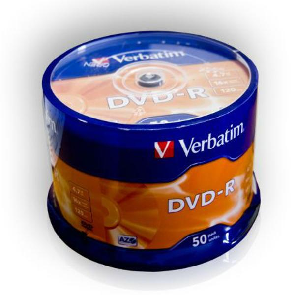 DVD-R VERBATIM 4,7GB 16X SET-50BUC