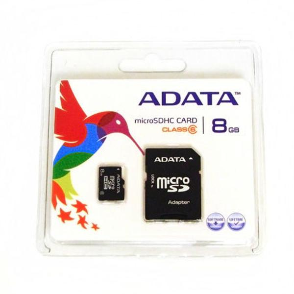 MICRO SD CARD 8GB CU ADAPTOR SD ADATA