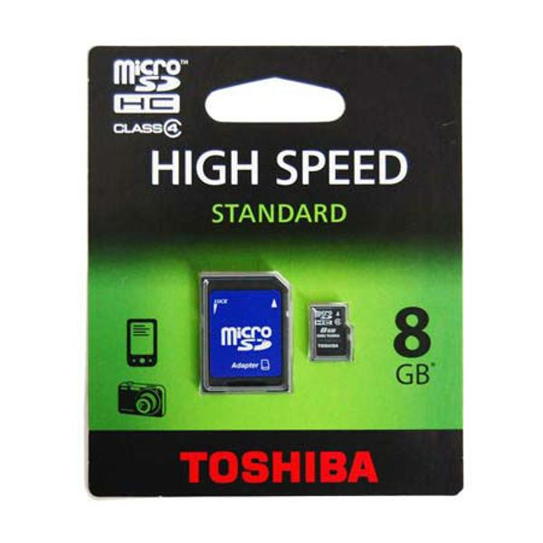 MICRO SD CARD 8GB CU ADAPTOR SD TOSHIBA
