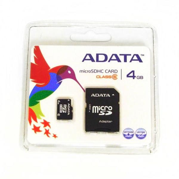 MICRO SD CARD 4GB ADAPTOR SD ADATA