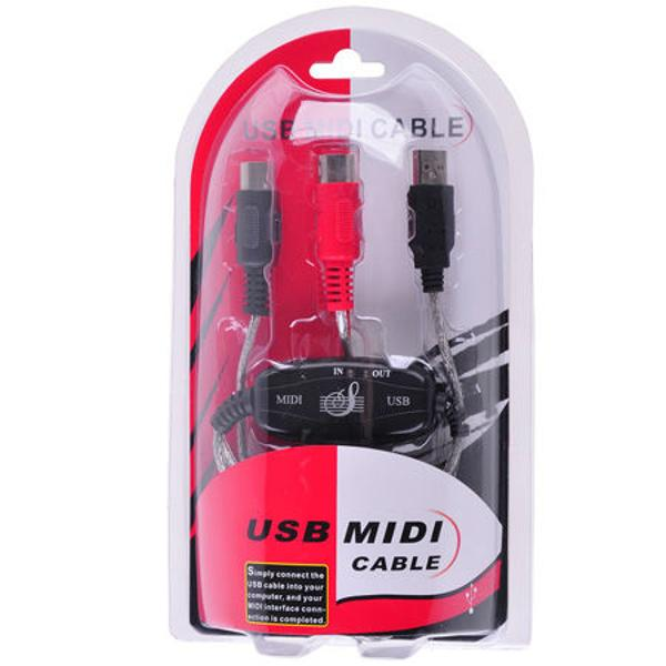 CABLU CONVERTOR USB MIDI IN,OUT