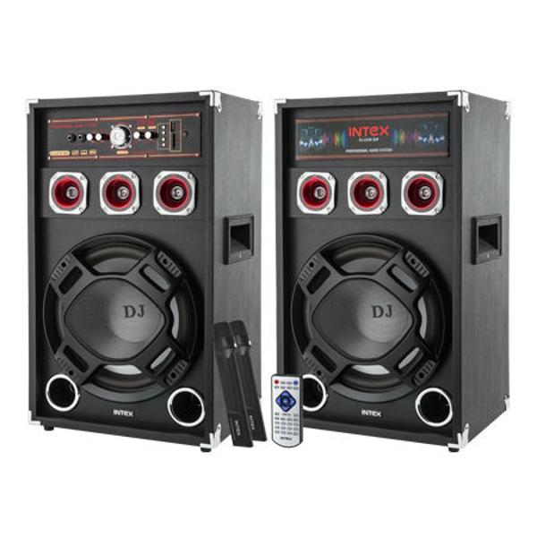 SET 2 BOXE DJ CU 2 MICROFOANE WIRELESS DJ220K