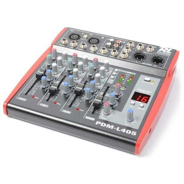 Power Dynamics	PDM-L405 Music Mixer 4-Channel MP3/ECHO