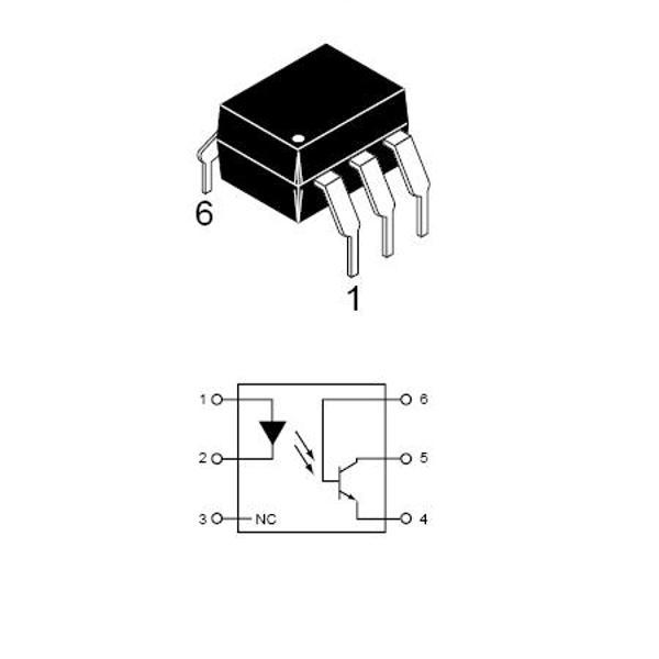optocuplor cu fototranzistor  circuite integrate
