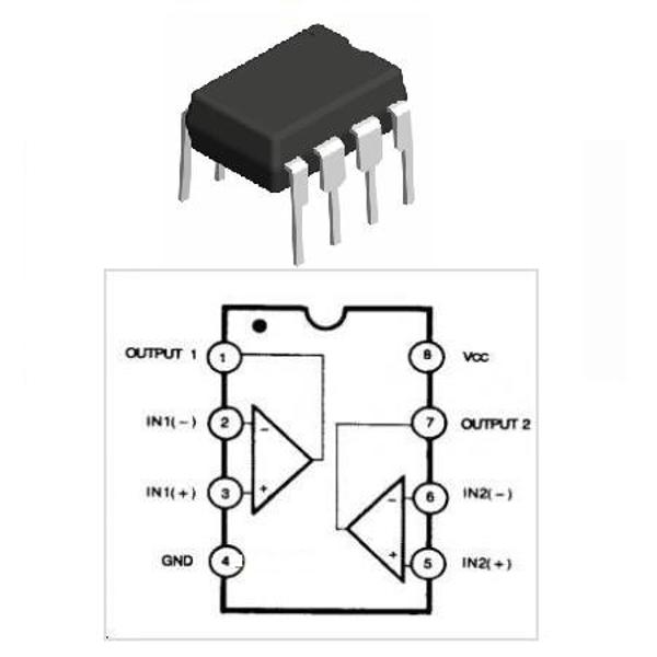 COMPARATOR DUAL LM393N