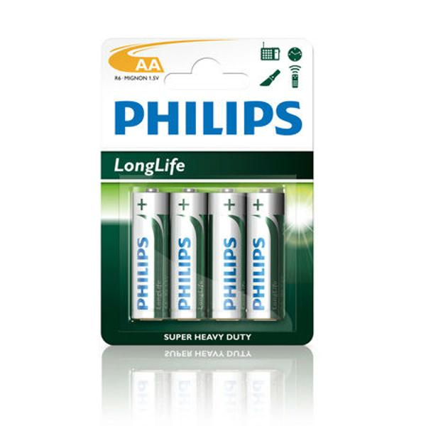 BATERIA PHILIPS R6 LONGLIFE BLISTER 4BUC