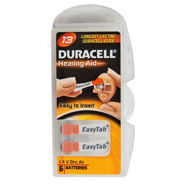 BATERIE AUDITIVA DURACELL 13 BLISTER 6 BUC