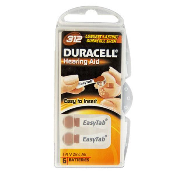 BATERIE AUDITIVA DURACELL 312 BLISTER 6 BUC