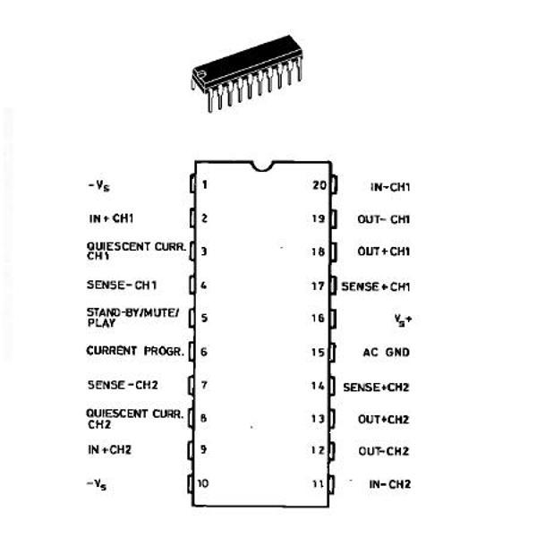preamplificator stereo 60w max  circuite integrate
