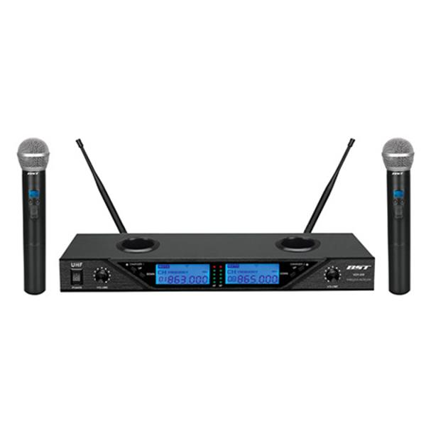 SET 2 MICROFOANE WIRELESS 8 CANALE REGLABILE BST