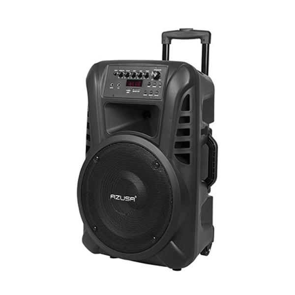 (MIK0135) SISTEM AUDIO PORTABIL SD BLUETOOTH USB 12INCH