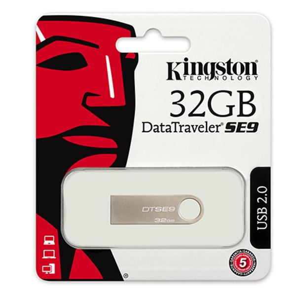 FLASH DRIVE 32GB SE9 SILVER KINGSTON