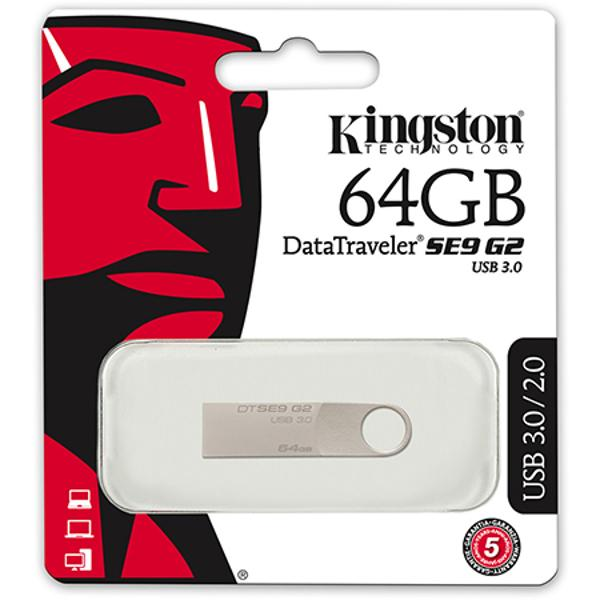 FLASH DRIVE 64GB 3.0 SE9 KINGSTON