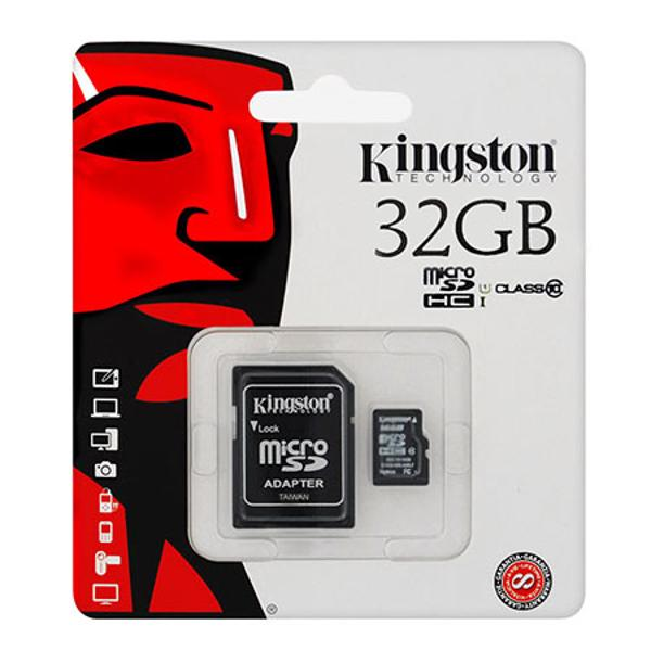 MICROSD CARD 32GB CLASS 10 ADAPTOR KINGSTON