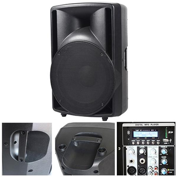 (PO15A-BT) BOXA ABS 15 inch/38CM 200W RMS USB/SD/BLUETOOTH BST