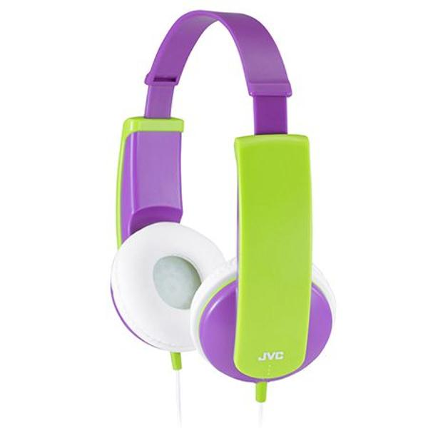 CASTI AUDIO COPII VIOLET/VERDE HA-KD5-V JVC