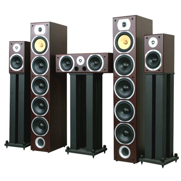 Home Theatre Speakers Set Black 1240W Max-V9B-BL